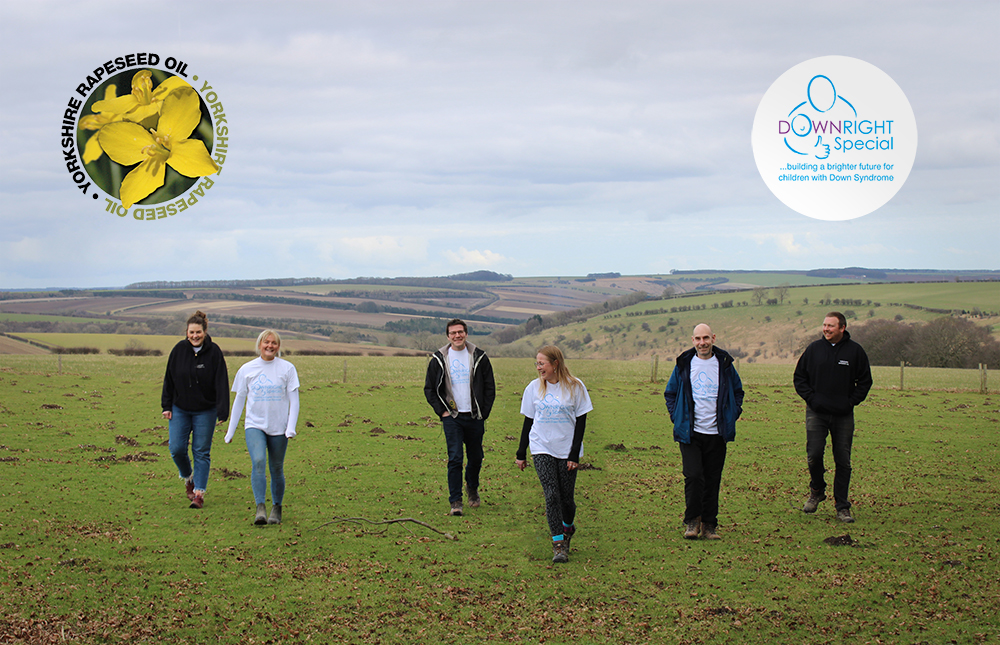 Yorkshire Rapeseed Oil Team preparing for their Charity Challenge in March 2021 for Downright Special